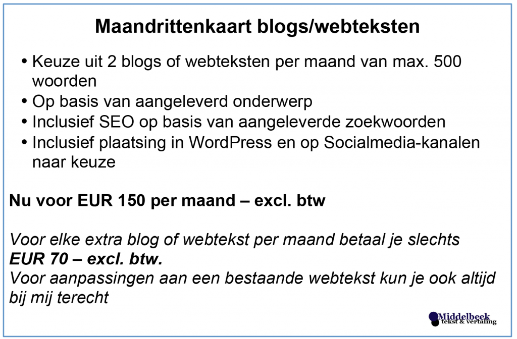 blogs, webteksten, bloggen